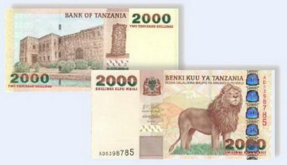 Курс танзанийского шиллинга к доллару
